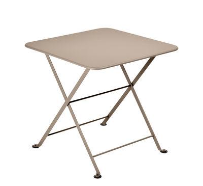 Table basse Tom Pouce / 50 x 50 cm - Fermob gris en métal