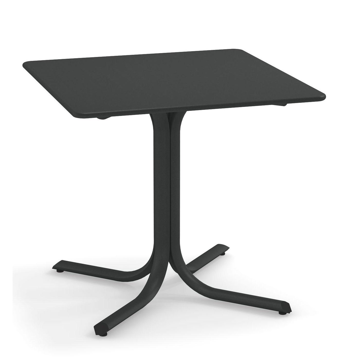 Outdoor - Tables de jardin - Table carrée System / 80 x 80 cm - Emu - Fer Antique - Acier peint galvanisé