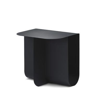 Table d'appoint Mass / 40 x 30 cm - Métal / Porte-revues intégré - Northern noir en métal