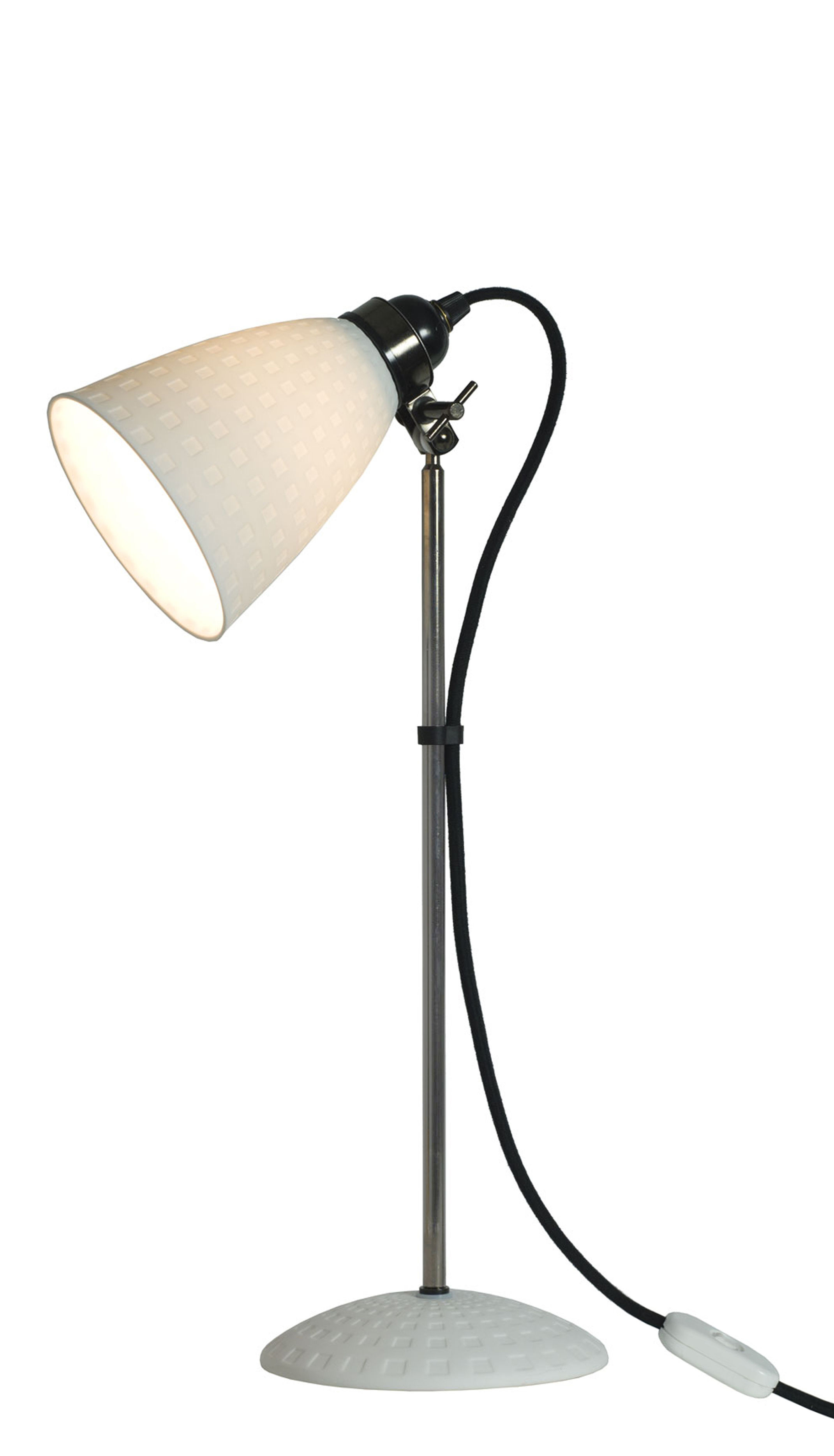Lighting - Table Lamps - Hector 21 Table lamp - H 57 cm - Bone China - Adjustable by Original BTC - Natural white - China, Chromed metal