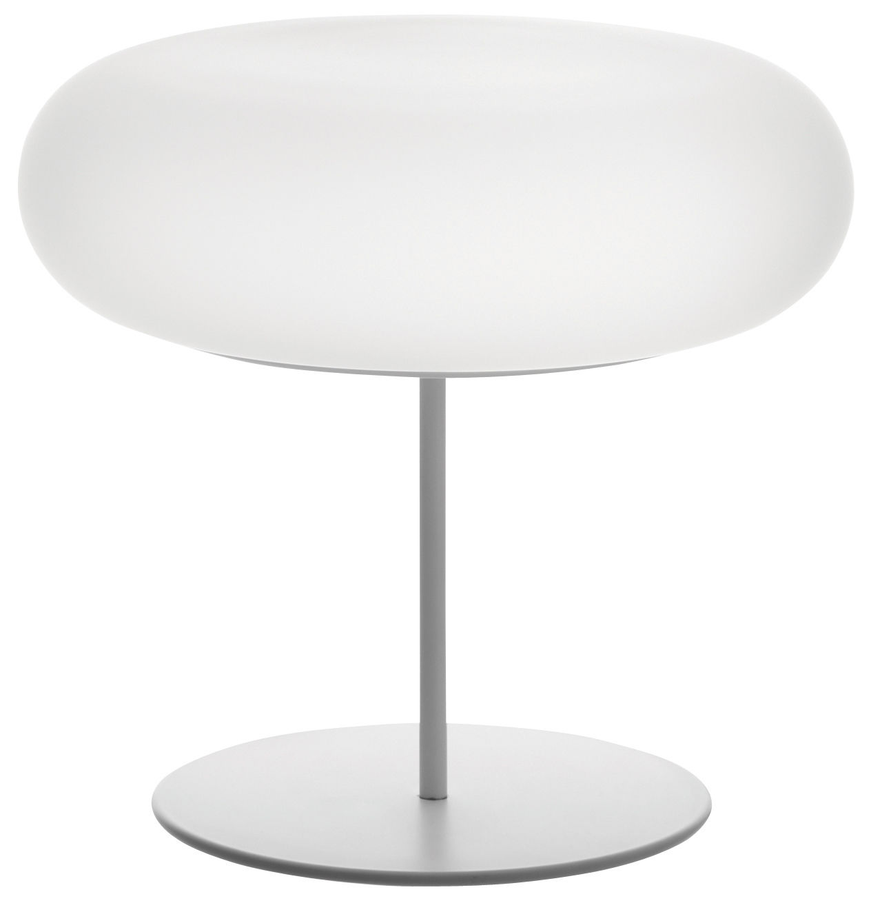 Lighting - Table Lamps - Itka Table lamp by Danese Light - White - Glass, Metal