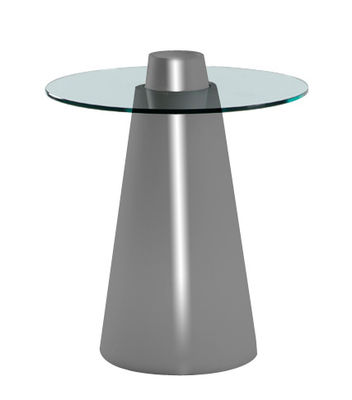Table ronde Peak / Ø 70 x H 80 cm - Slide gris laqué en verre