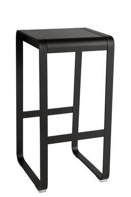Mobilier - Tabourets de bar - Tabouret haut Bellevie / H 75 cm - Aluminium - Fermob - Réglisse - Aluminium peint