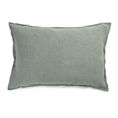 Déco - Textile - Taie d'oreiller 50 x 70 cm / Lin lavé - Au Printemps Paris - 50 x 70 cm / Rayé kaki - Lin lavé
