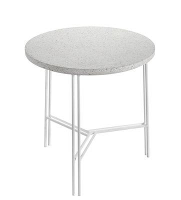 Arredamento - Tavolini  - Tavolino Terrazzo - / Ø 40  x H 40 cm di Serax - Terrazzo Bianco / Gamba Bianca - Ferro dipinto, Terrazzo