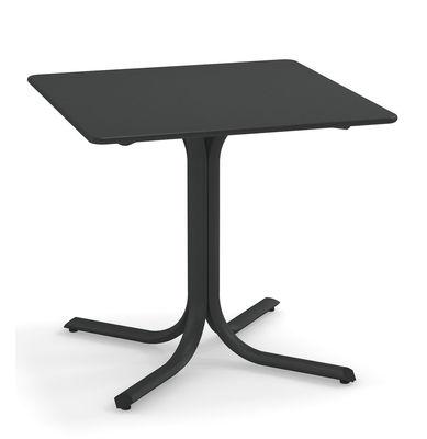 Outdoor - Tavoli  - Tavolo quadrato System - / 80 x 80 cm di Emu - Ferro antico - Acciaio galvanizzato verniciato