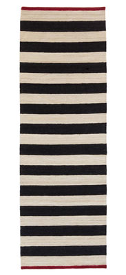 Mélange - Stripes 2 Teppich / 80 x 240 cm - Nanimarquina - Weiß,Rot,Schwarz