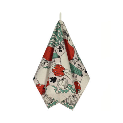 Torchon Vihannesmaa / 47 x 70 cm - Marimekko rouge,vert en tissu