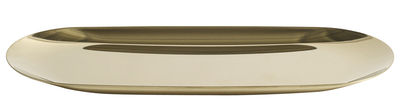 Tableware - Trays - Tray Tray - Large - L 23 cm by Hay - Gold - Stainless steel