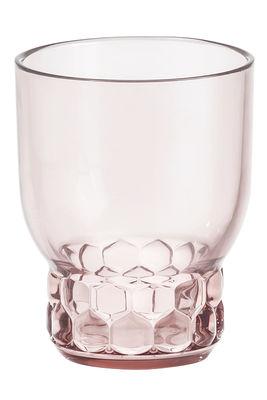 Verre Jellies Family / Small - H 11 cm - Kartell rose en matière plastique