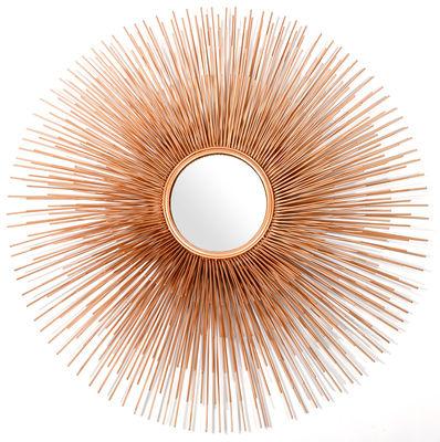 Dekoration - Spiegel - Prickle Wandspiegel / Ø 81 cm - Pols Potten - Goldfarben - Bemaltes Eisen, Glas