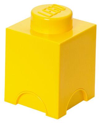 Decoration - Children's Home Accessories - Lego® Brick Box - / 1 stud - Stackable by ROOM COPENHAGEN - Yellow - Polypropylene