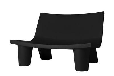 Canapé 2 places Low Lita Love / L 118 cm - Slide noir en matière plastique