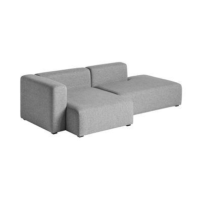 Mobilier - Canapés - Canapé d'angle Mags / L 246 cm - Accoudoir gauche - Hay - Gris (Tissu Hallingdal)  / Accoudoir gauche - Mousse de polyuréthane, Pin, Tissu Kvadrat