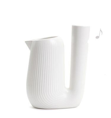 Carafe Pan / Sifflante - 1L - Moustache blanc en céramique