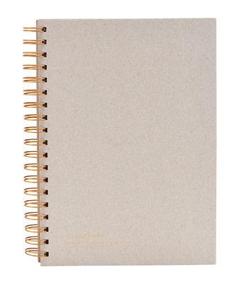 Accessoires - Bloc-notes, cahiers et stylos - Carnet Tab / 25,2 x 17,7 cm - House Doctor - 25,2 x 17,7 cm / Gris - Papier