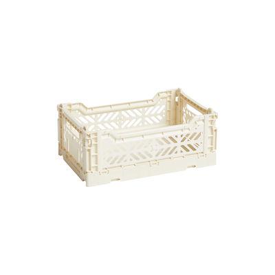 Image of Cestino Colour Crate - Small / 26 x 17 cm di Hay - Beige - Materiale plastico