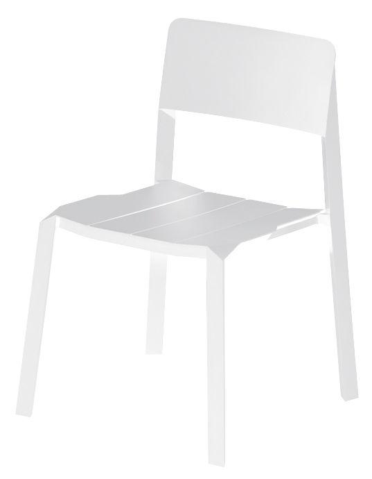 Mobilier - Chaises, fauteuils de salle à manger - Chaise empilable Tri tube / Aluminium - Spécimen Editions - Blanc - Aluminium laqué époxy