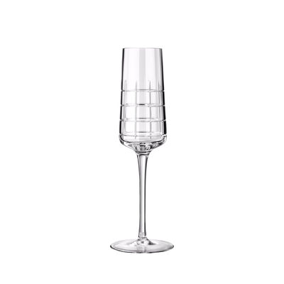 Tableware - Wine Glasses & Glassware - Graphik Champagne glass - / Hand-blown crystal by Christofle - Transparent - Mouth blown crystal