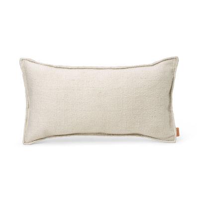 Coussin d'extérieur Desert / Bouteilles plastique recyclées - 53 x 28 cm - Ferm Living blanc en tissu