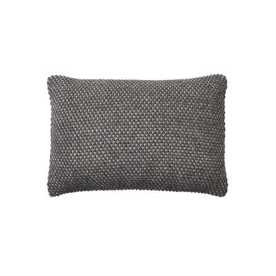 Coussin Twine / Laine baby lama tricotée main - 60 x 40 cm - Muuto gris en tissu