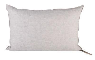 Decoration - Cushions & Poufs - Vice Versa Cushion - 38 x 50 cm by Maison de Vacances - Pearl grey - Cotton, Duck feathers, Flax