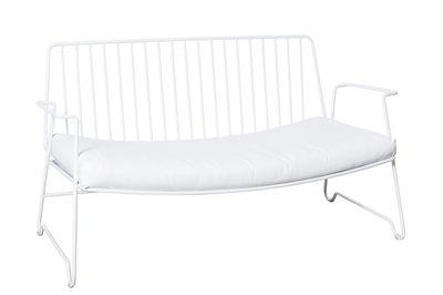 Arredamento - Divani moderni - Divano Fish & Fish / L 115 cm - Con cuscino di seduta - Serax - Bianco - Alluminio laccato, Schiuma di poliuretano, Tessuto sintetico