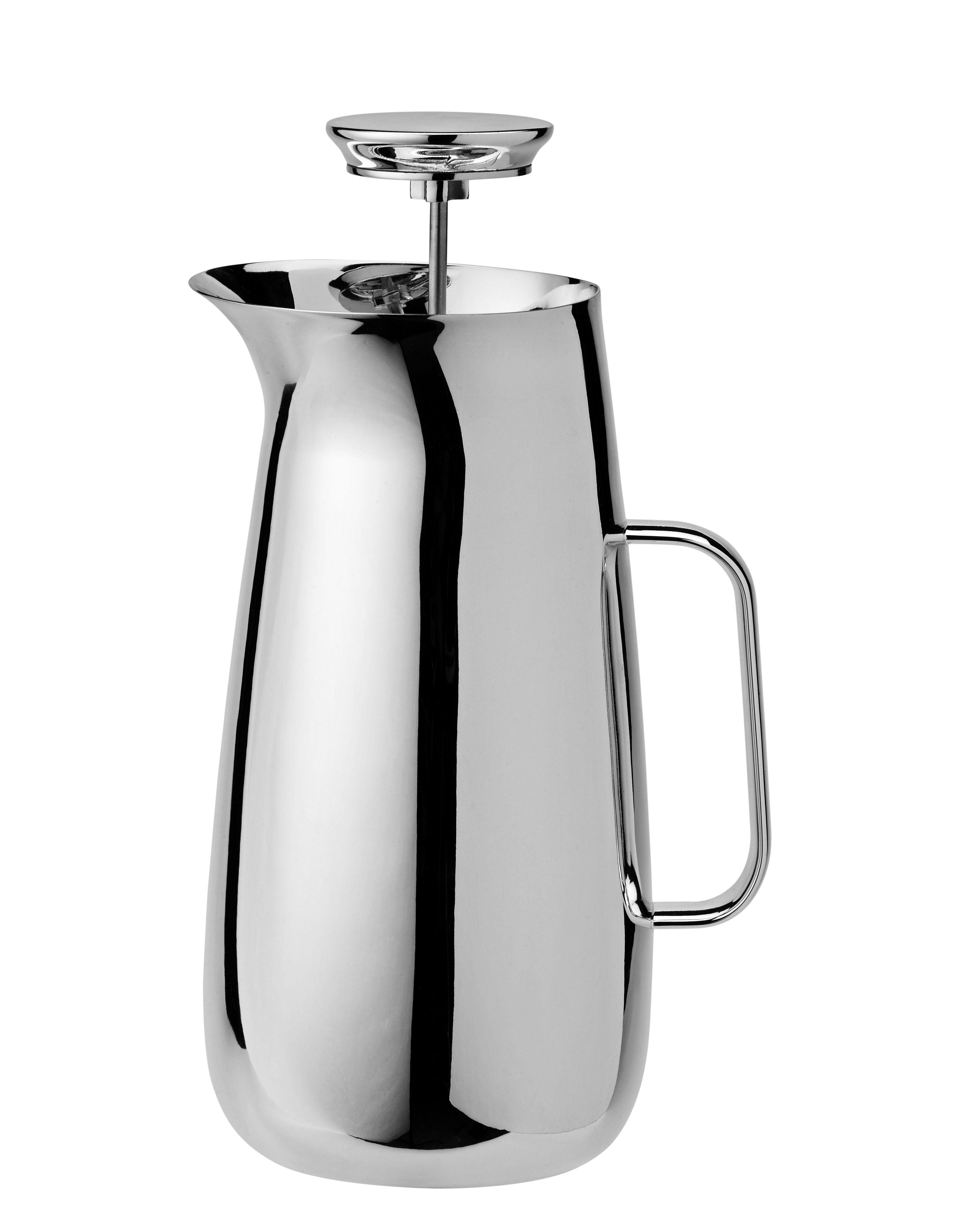 Küche - Kaffekannen - Foster Druckkolben-Kaffeemaschine / Stahl - 1 l - Stelton - Stahl - rostfreier Stahl