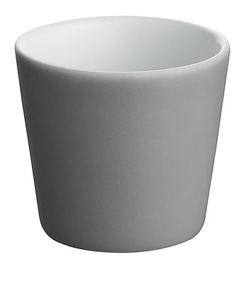 Tischkultur - Tassen und Becher - Tonale Espressotasse - Alessi - Dunkelgrau / innen weiß - Keramik im Steinzeugton