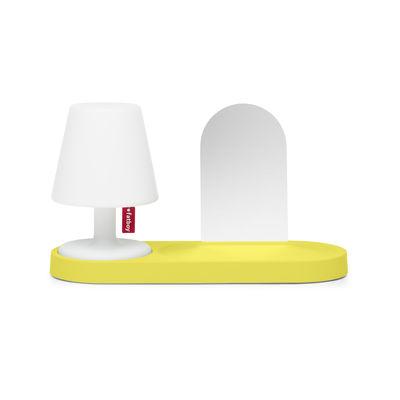 Etagère Edison the Petit Residence / Avec miroir - Pour lampe sans fil Edison the Petit II - Fatboy jaune en matière plastique