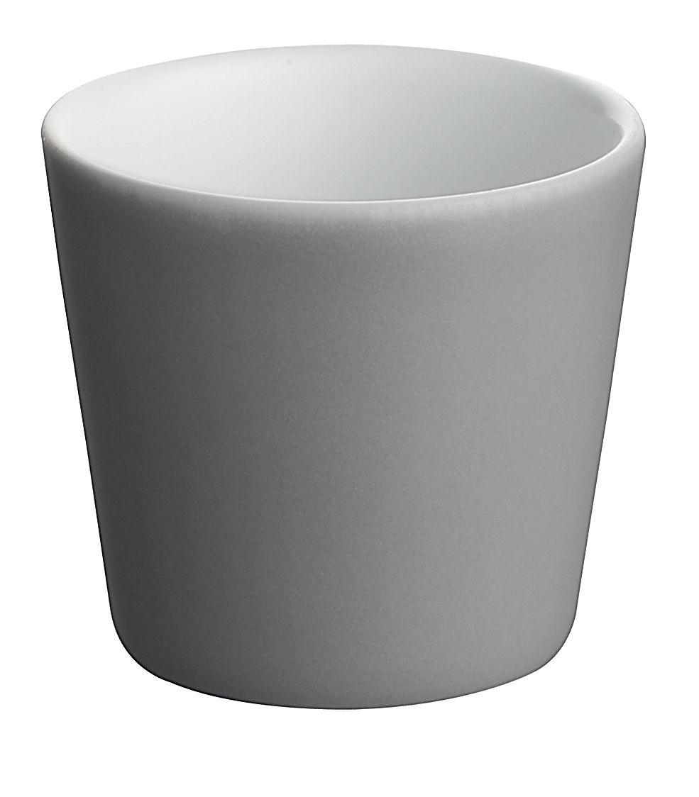 Tischkultur - Tassen und Becher - Tonale Expresso-Tassen - Alessi - Dunkelgrau / innen weiß - Keramik im Steinzeugton