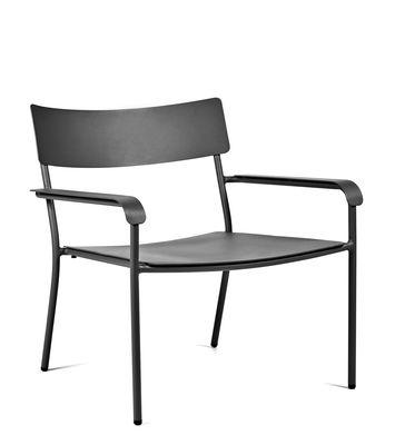 Fauteuil bas August / Aluminium - Serax noir en métal