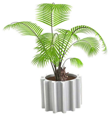 Outdoor - Pots & Plants - Gear Flowerpot - Lacquered version by Slide - Laquered white - Recyclable lacquered polyethylene