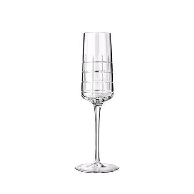 Arts de la table - Verres  - Flûte à champagne Graphik / Cristal soufflé bouche - Christofle - Transparent - Cristal soufflé bouche
