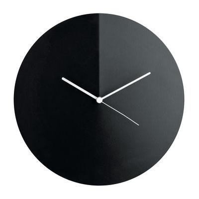 Horloge murale Arris / Acier - Ø 30 cm - Alessi blanc,noir en métal