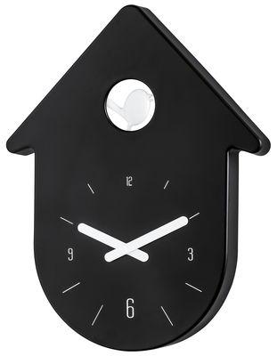 Déco - Horloges  - Horloge murale Toc-Toc - Koziol - Cadran : noir / Aiguilles blanc - Plastique recyclable