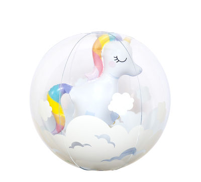 Decoration - Children's Home Accessories - Licorne 3D Inflatable balloon - / Ø 35 cm by Sunnylife - Unicorn - PVC non toxique