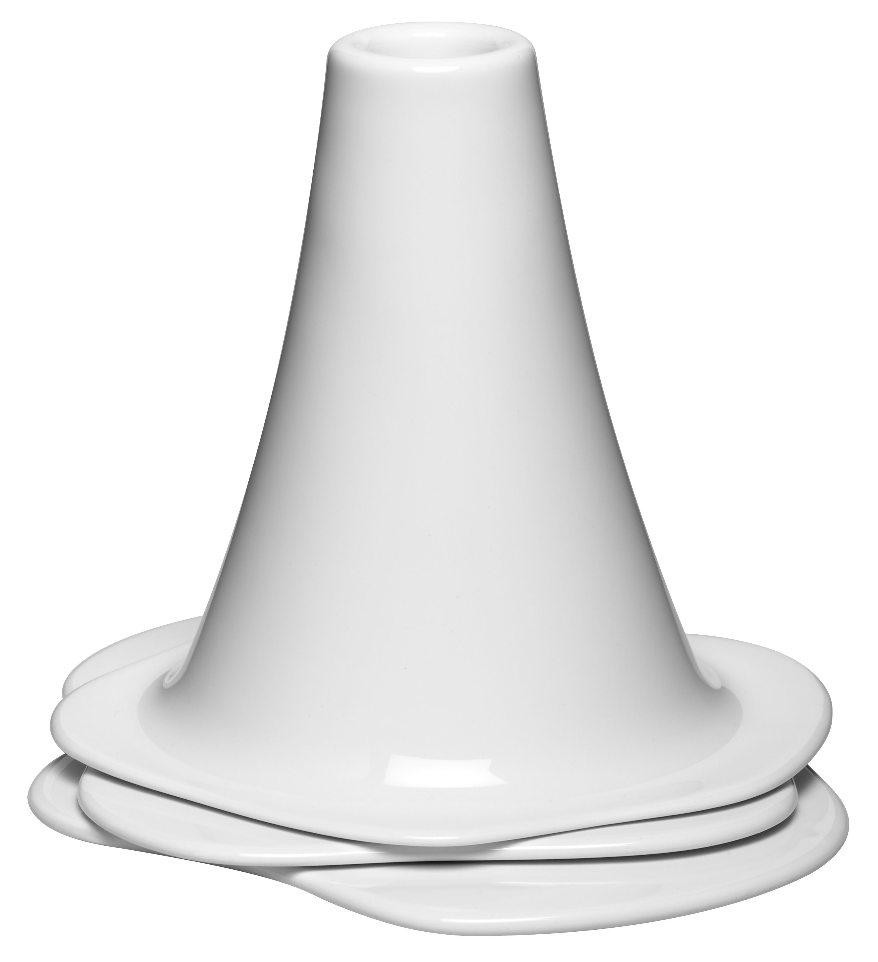 Dekoration - Kerzen, Kerzenleuchter und Windlichter - Lava Kerzenleuchter 3-er Set - Design House Stockholm - Weiß - chinesisches Weich-Porzellan