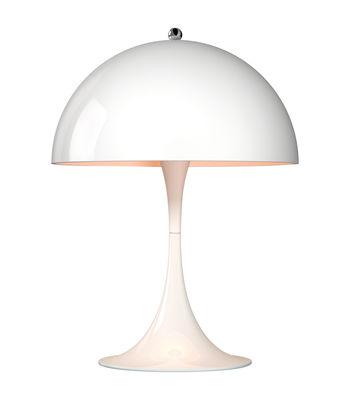 Lampe de table Panthella Mini LED / H 33,5 cm - Métal - Louis Poulsen blanc en métal