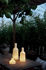 Lampe sans fil Alabast Medium - LED / H 30 cm - Albâtre / OUTDOOR - Carpyen
