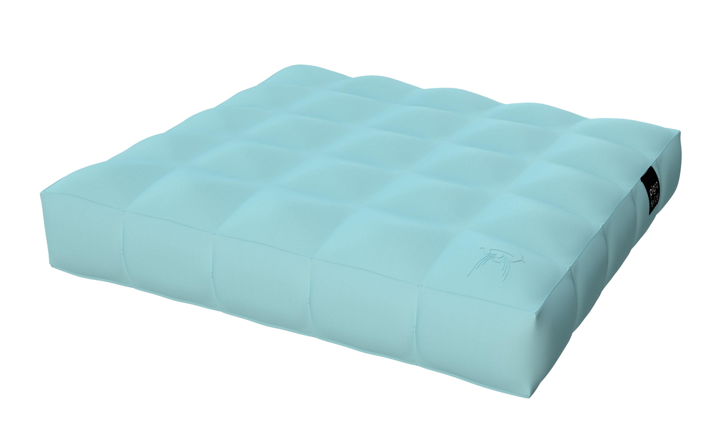 Jardin - Poufs, coussins & tapis d'extérieur - Matelas gonflable Modul'Air / Flottant - 117 x 117 cm - Pigro Felice - Matelas / Bleu - PVC