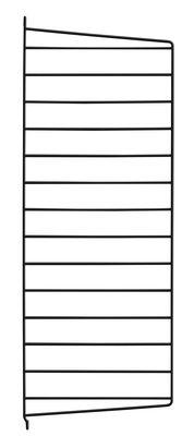 Mobilier - Etagères & bibliothèques - Montant mural String® system / H 75 x P 30 cm - à l'unité - String Furniture - Noir - Acier laqué