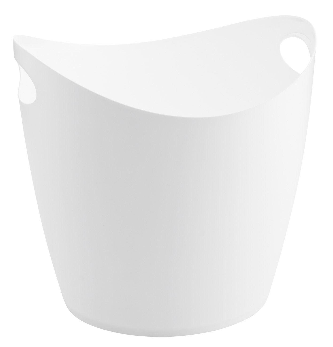 Déco - Salle de bains - Panier Bottichelli XL / Bassine - L 44 x H 40 cm - Koziol - Blanc - Polypropylène