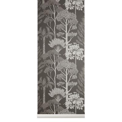 Papier peint Trees / 1 rouleau - Larg. 53 cm - Ferm Living gris en papier