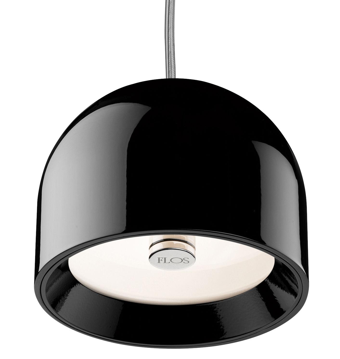 Leuchten - Pendelleuchten - Wan Pendelleuchte - Flos - Schwarz - Aluminium