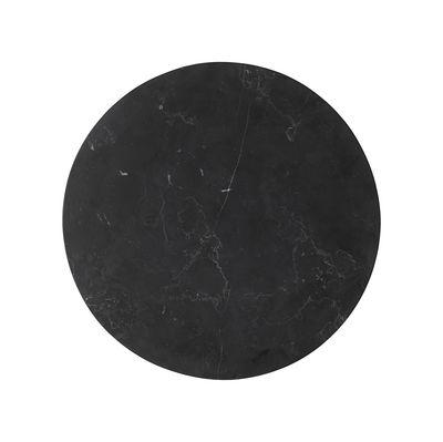 Mobilier - Tables basses - Plateau marbre / Ø 23 cm - Pour support Wire - Menu - Marbre noir - Marbre Marquina