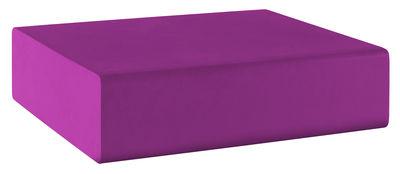 Pouf Matrass Mat 75 - Quinze & Milan violet en matière plastique