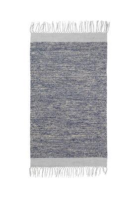 Decoration - Rugs - Melange Rug - / 60 x 100 cm - Hand woven by Ferm Living - Blue - 100% cotton