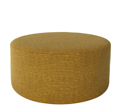 Möbel - Sitzkissen - Zyl Sitzkissen / Ø 90 cm - Bolia - Curry-gelb - isorel, Kaltschaum, Plastik, Stoff Global