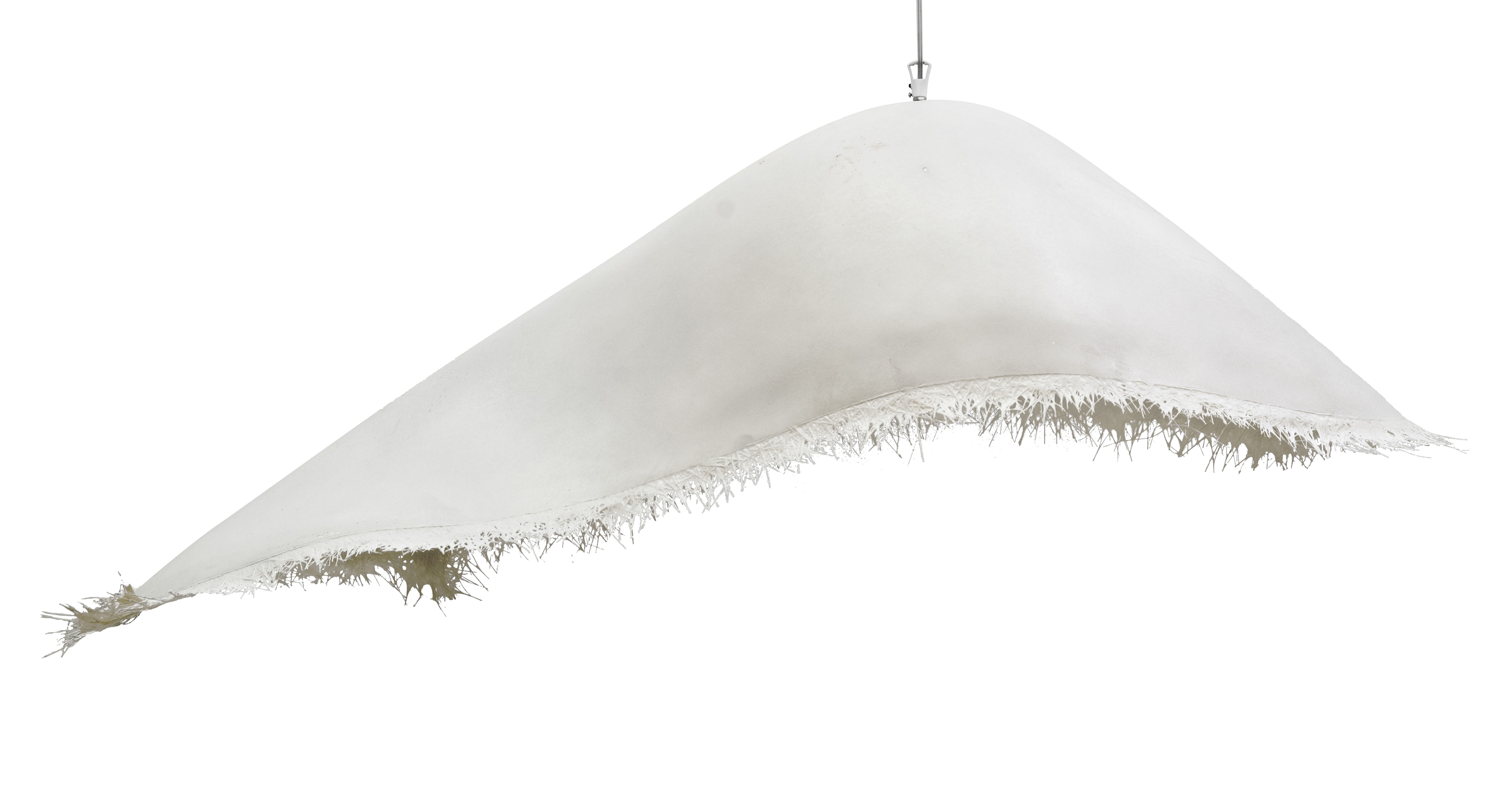 Luminaire - Suspensions - Suspension Moby dick / Pour l'intérieur - L 90 cm - Karman - Blanc - Fibre de verre